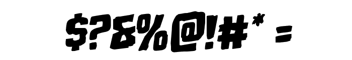 Monster Hunter Staggered Rotalic Font OTHER CHARS