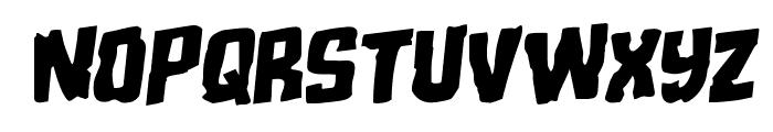Monster Hunter Staggered Rotalic Font UPPERCASE
