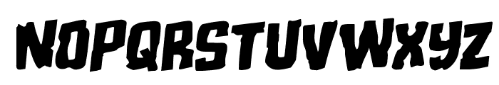 Monster Hunter Staggered Rotalic Font LOWERCASE