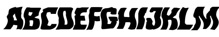 Monster Hunter Warped Italic Font UPPERCASE