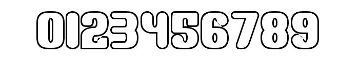 Monster Outline Font OTHER CHARS