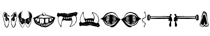 MonsterMasher Font LOWERCASE