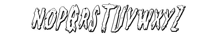 Monsterama 3D Italic Font UPPERCASE
