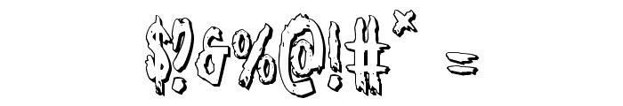 Monsterama 3D Regular Font OTHER CHARS