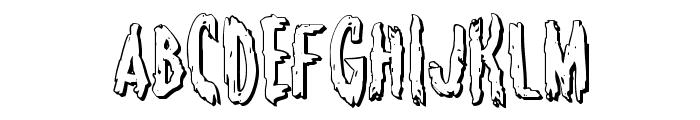 Monsterama 3D Regular Font UPPERCASE