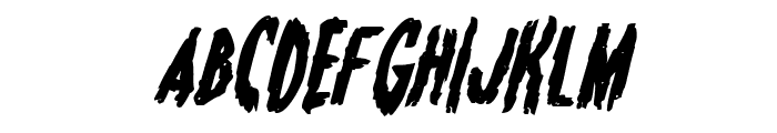 Monsterama Bold Italic Font UPPERCASE