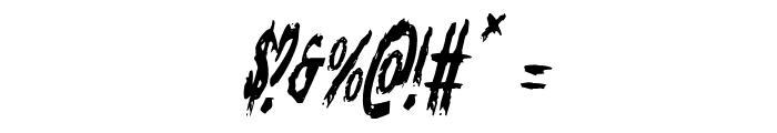 Monsterama Condensed Italic Font OTHER CHARS