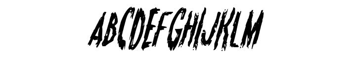 Monsterama Condensed Italic Font UPPERCASE