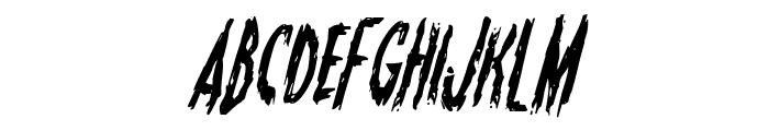 Monsterama Condensed Italic Font LOWERCASE