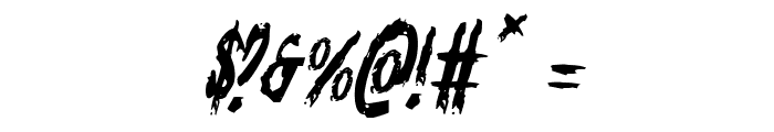 Monsterama Italic Font OTHER CHARS