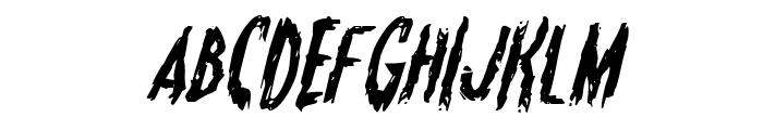 Monsterama Italic Font UPPERCASE