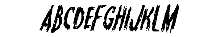 Monsterama Italic Font LOWERCASE