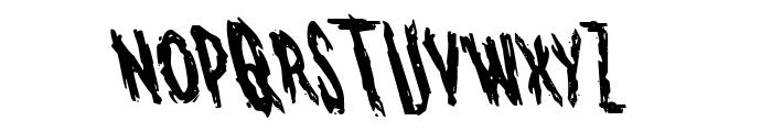 Monsterama Leftalic Font UPPERCASE