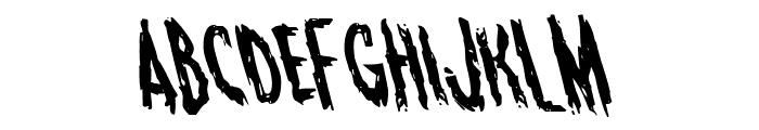 Monsterama Leftalic Font LOWERCASE