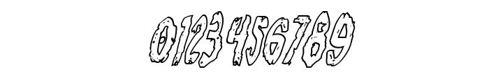 Monsterama Outline Italic Font OTHER CHARS