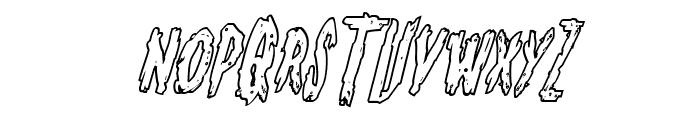 Monsterama Outline Italic Font UPPERCASE