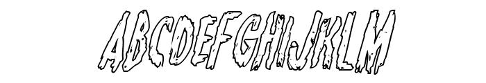 Monsterama Outline Italic Font LOWERCASE