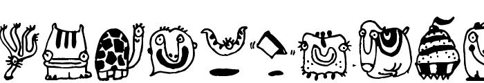 Monsterocity Font LOWERCASE