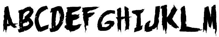 Monsters Attack! Font UPPERCASE