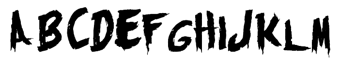 Monsters Attack! Font LOWERCASE