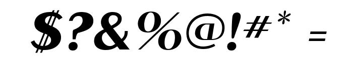 MontereyFLF-BoldItalic Font OTHER CHARS