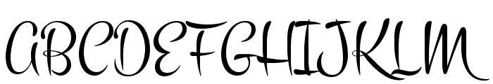 Montez Font UPPERCASE