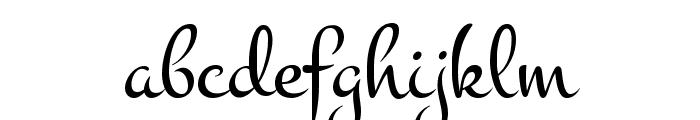 Montez Font LOWERCASE
