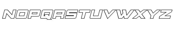 Montroc Outline Italic Font UPPERCASE