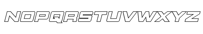 Montroc Outline Italic Font LOWERCASE