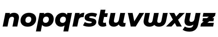 Montserrat Alternates ExtraBold Italic Font LOWERCASE