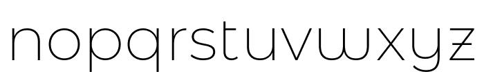 Montserrat Alternates ExtraLight Font LOWERCASE