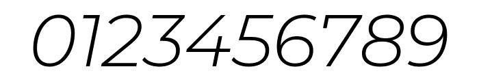 Montserrat Alternates Light Italic Font OTHER CHARS