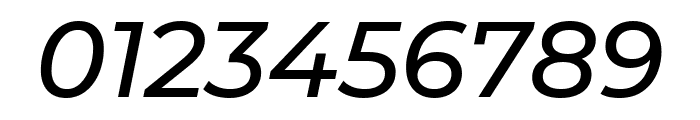 Montserrat Alternates Medium Italic Font OTHER CHARS