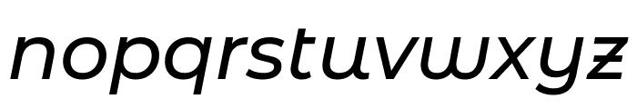 Montserrat Alternates Medium Italic Font LOWERCASE
