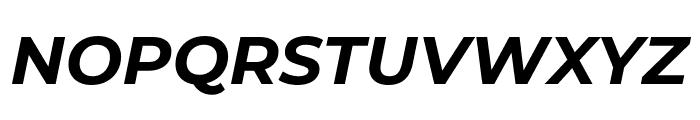 Montserrat Bold Italic Font UPPERCASE