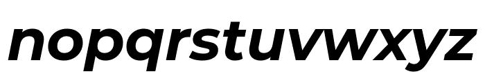 Montserrat Bold Italic Font LOWERCASE