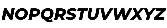 Montserrat ExtraBold Italic Font UPPERCASE