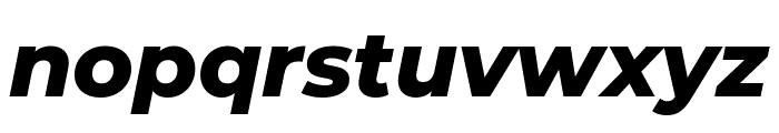 Montserrat ExtraBold Italic Font LOWERCASE