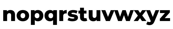 Montserrat ExtraBold Font LOWERCASE