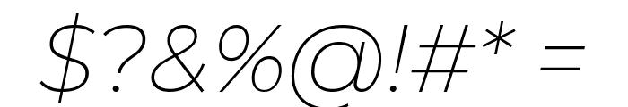 Montserrat ExtraLight Italic Font OTHER CHARS