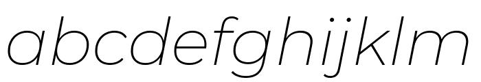 Montserrat ExtraLight Italic Font LOWERCASE