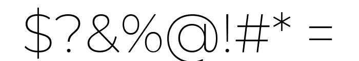 Montserrat ExtraLight Font OTHER CHARS