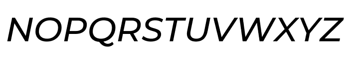 Montserrat Medium Italic Font UPPERCASE
