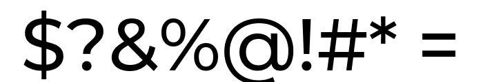 Montserrat Medium Font OTHER CHARS