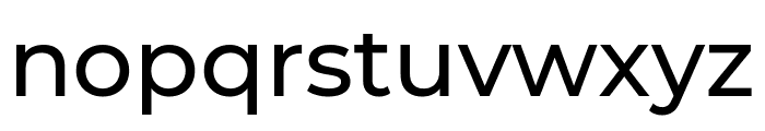 Montserrat Medium Font LOWERCASE