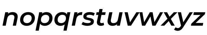 Montserrat SemiBold Italic Font LOWERCASE