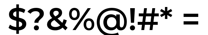Montserrat SemiBold Font OTHER CHARS