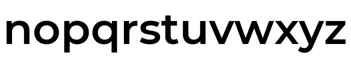 Montserrat SemiBold Font LOWERCASE