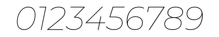 Montserrat Thin Italic Font OTHER CHARS