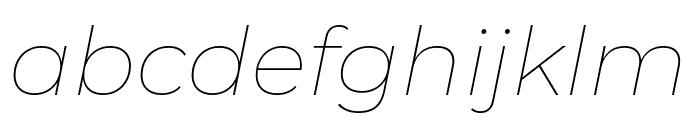 Montserrat Thin Italic Font LOWERCASE